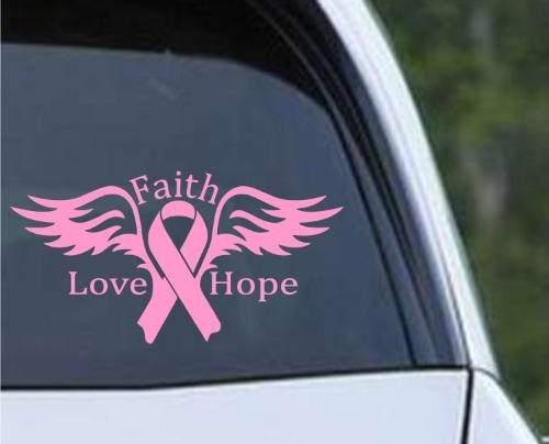 breast cancer angel faith love hope ribbon