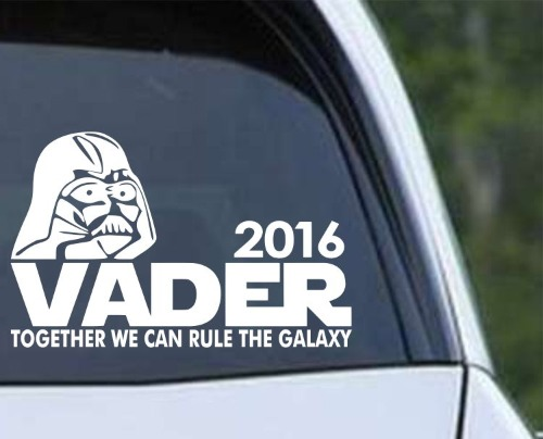 Vader 2016 Darth Vader for President Vinyl Car Decal