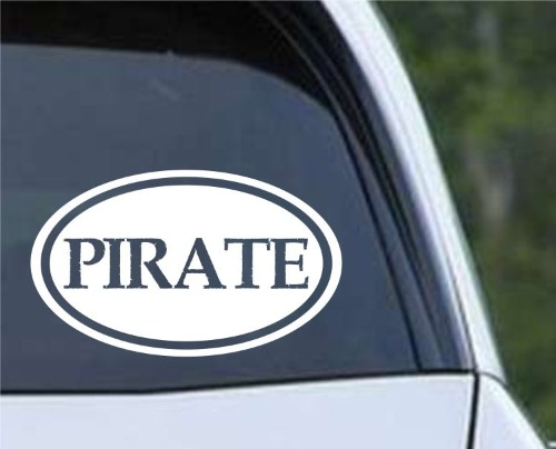 Pirate Euro Oval Die Cut