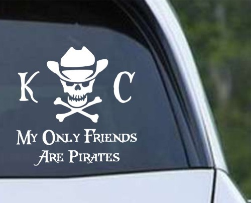 Kenny Chesney Cowboy Skull My Only Friends Are Pirates
