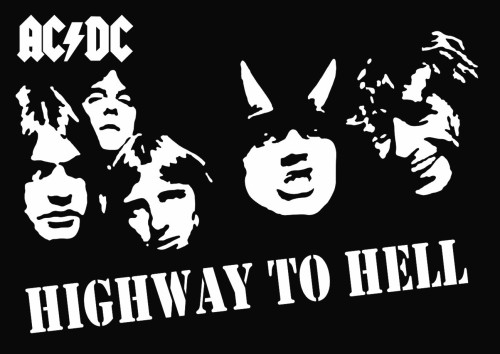 Ac dc highway to hell vinyl decal sticker
