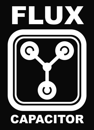 Flux capacitor back to the future vinyl decal sticker