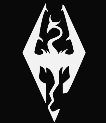 elder scrolls skyrim logo vinyl die cut decal sticker texas die cuts