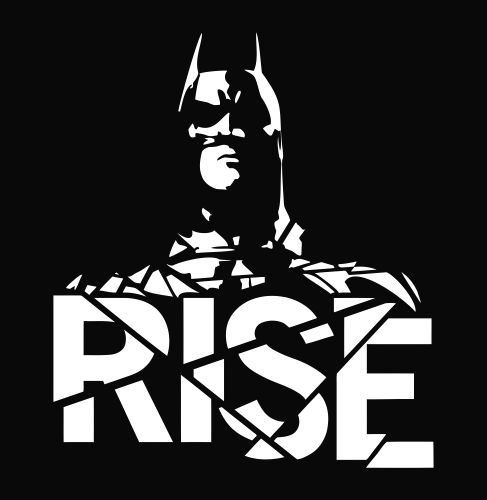 Batman dark knight rises die cut vinyl decal sticker