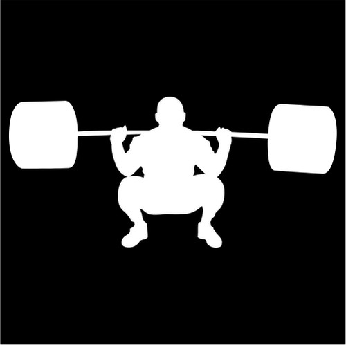 weightlifting silhouette die cut vinyl decal sticker