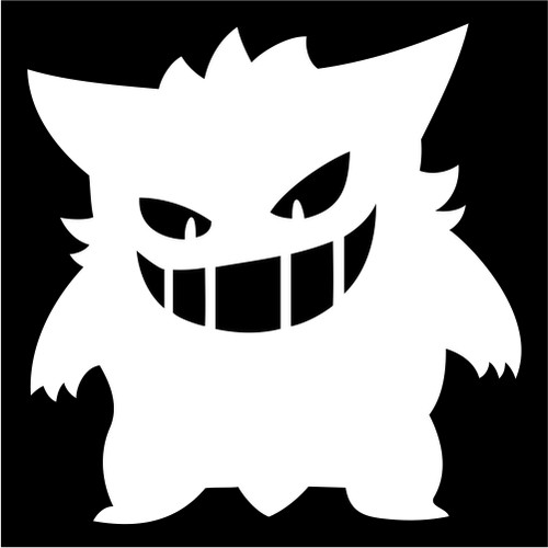 Gengar pokemon vinyl die cut decal sticker
