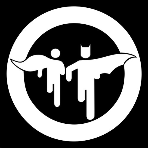 Batman and robin caution sign die cut vinyl decal sticker