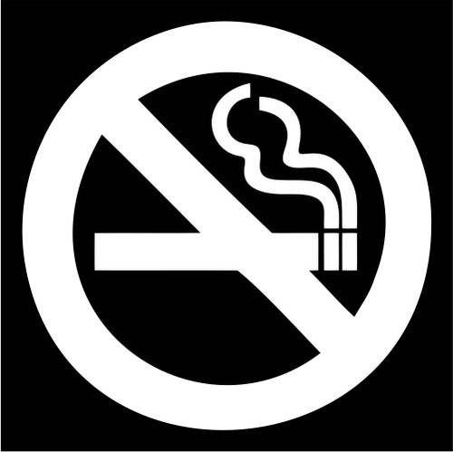 No smoking sign die cut vinyl decal sticker