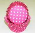 Hot Pink Polka Dot Cupcake Liner.jpeg