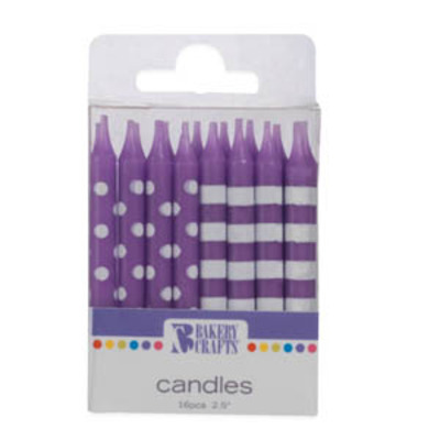 Dotted & Striped Purple Candles.jpeg