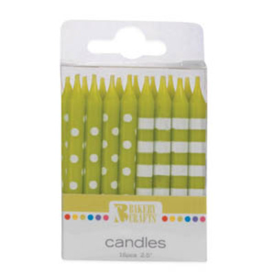 Dotted & Striped Lime Green Candles.jpeg