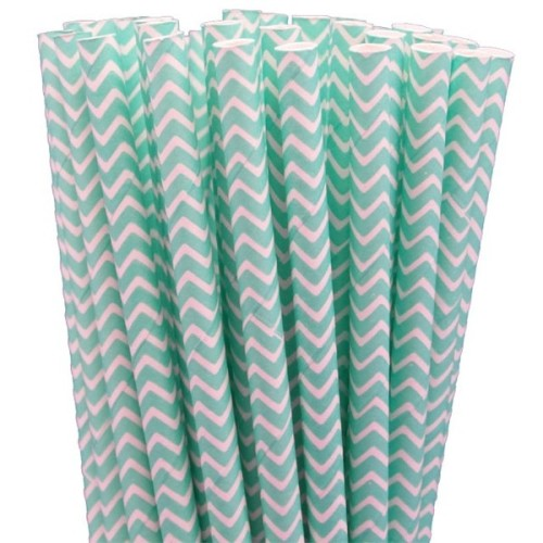 Robin's Egg Blue Chevron Paper Straws.jpeg