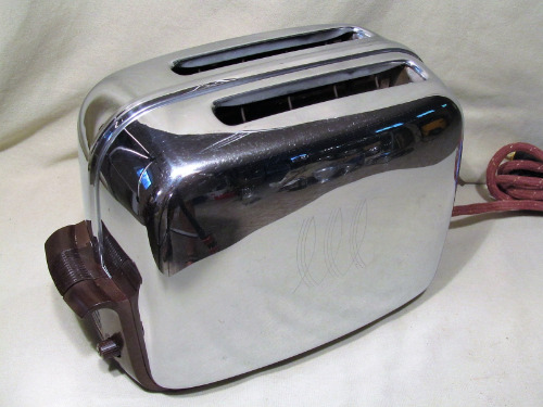reviewed Vintage Toastmaster Model 1B14 Toaster KITCHENMADE USA
