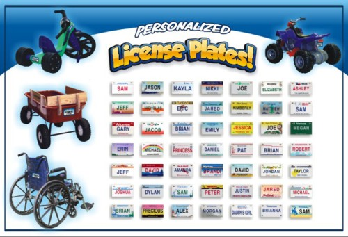 Kids Personalized State License Plate for Child Ride On etc.  sc 1 st  Stuff4Children.com & Kids Personalized State License Plate for Child Ride On etc ...
