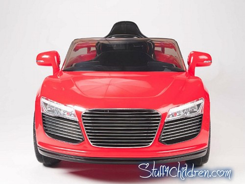 kids electric ride on audi r8 style kids car 12v seatbelt mp3 remote control red