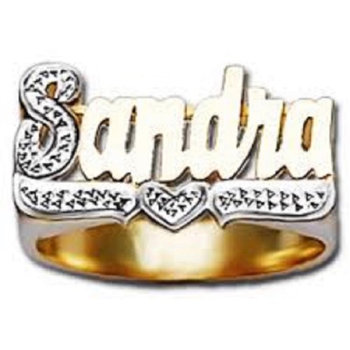 rings custom carrie name gold plated ring plate