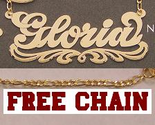 c45d5a494201df 10k Gold Any Name Necklace Nameplate Chain Personalized /a6. W-25.bmp