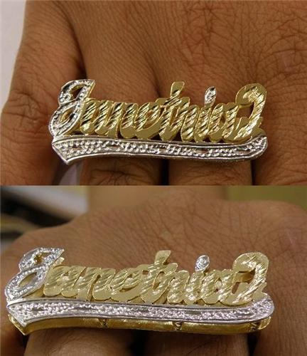 monogram ring rings by and diamond plate silver name co htm basch nameplate fine jewelry gold double