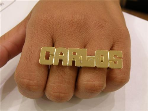 item back tiny nameplate plate rings name front ring