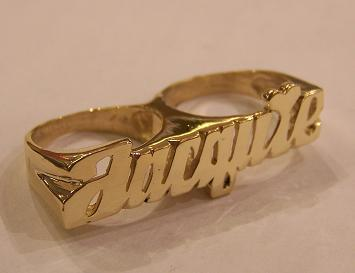 name ring plate front nameplate back item tiny rings