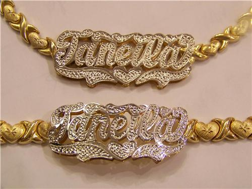 name chains real chain nameplate necklace plate pin gold