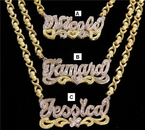 alquds plates yellow plate custom gold nameplates chains jewelry name
