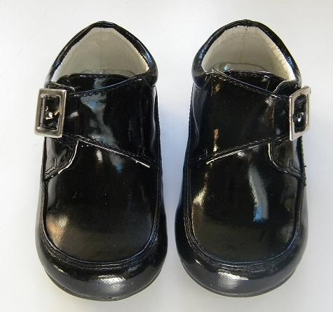 Baby Boy Tuxedo Black Dress Leather Shoes Sz 234567 H1 Nikfine