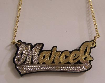 gold necklace page personalized qvc plate product name com