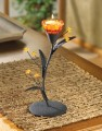 AMBER LILY TEALIGHT HOLDER