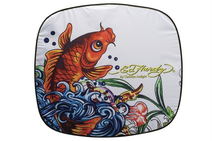 Ed Hardy Koi Fish Windshield Sunshade Jumbo Size
