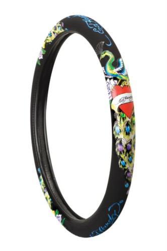 Ed Hardy Peacock Steering Wheel Cover Everything4cars