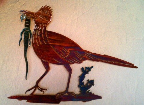 18 Inch Quot Roadrunner Quot Metal Wall Art Elaine S Of Old Town