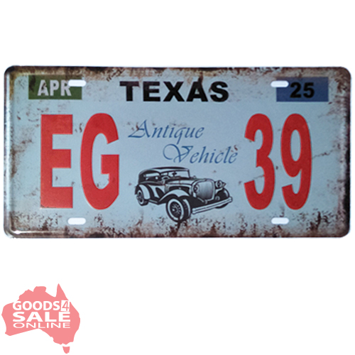 Waco Texas Background Novelty Metal License Plate