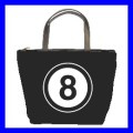 Bucket Bag Handbag 8 BALL Pool Eight Game Billiards Fun (21647480)