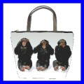 Bucket Bag Handbag 3 MONKEYS See Hear Speak Weird Cute (21647564)
