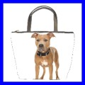 Bucket Bag Handbag AMERICAN PIT BULL TERRIER Dog Puppy (21648640)