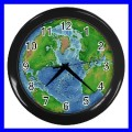 Wall Clock EARTH Planet Astrology space Horoscope Globe (11386044)