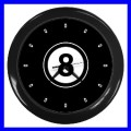 Wall Clock 8 BALL Pool Eight Game Table Billards Sign (11541914)