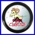 Wall Clock SYMBOLS CUBS Sign Billy Goat Curse Baseball (11541929)