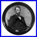 Wall Clock ABRAHAM LINCOLN President U.S. Flag Statue (11776706)