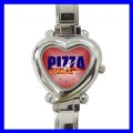 Heart Charm Watch PIZZA NR Chef Cook Women Girls Ladies (12173895)