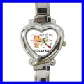 Heart Charm Watch HUMAN EAR Audiologist Therapist Nurse (12174100)