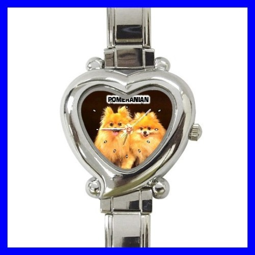 Heart Charm Watch POMERANIAN Puppy Dog Girls Women Kids (12174151)