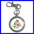 Key Chain Pocket Watch PIZZA Women Girls Boys Chef Cook (12155197)