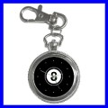 Key Chain Pocket Watch 8 BALL Pool Eight Game Billiard (12155208)