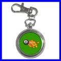 Key Chain Pocket Watch 8 BALL Pool Game Billiards Women (12155210)