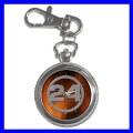 Key Chain Pocket Watch 24 Hours Men Women Boys Girls NR (12155214)