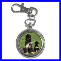 Key Chain Pocket Watch AFGHAN HOUND Dog Puppy Animal NR (12155668)