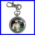 Key Chain Pocket Watch AFGHAN HOUND NR Dog Puppy Animal (12155669)