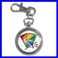 Key Chain Pocket Watch GAY COMING OUT Rainbow Flag Boys (12155808)